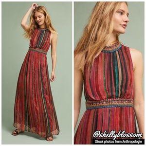 NWT Artista Maxi Dress by Bl-nk Metallic Thread